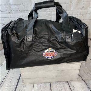 NASCAR Daytona 500 2006 Leather Duffel Bag NWT